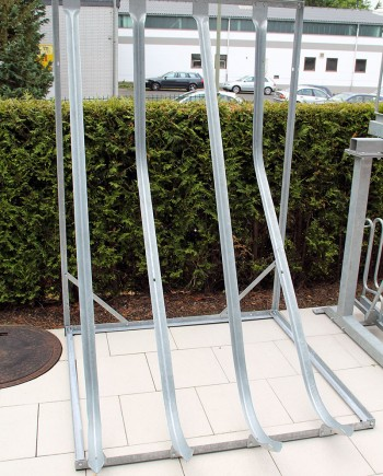 Free Standing Semi-Vertical Cycle Rack