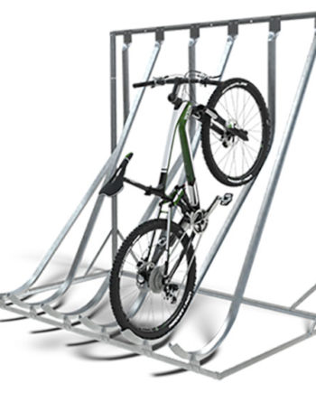 Wall Mounted Semi-Vertical Cycle Rack