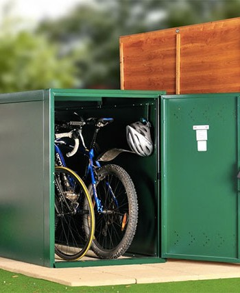 Double bike locker